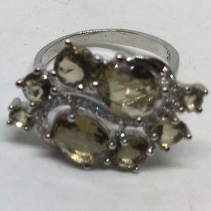 Smokey Topaz S925 Silver Ring